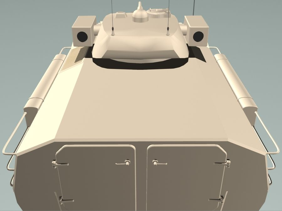Armored Personnel Carrier royalty-free 3d model - Preview no. 7