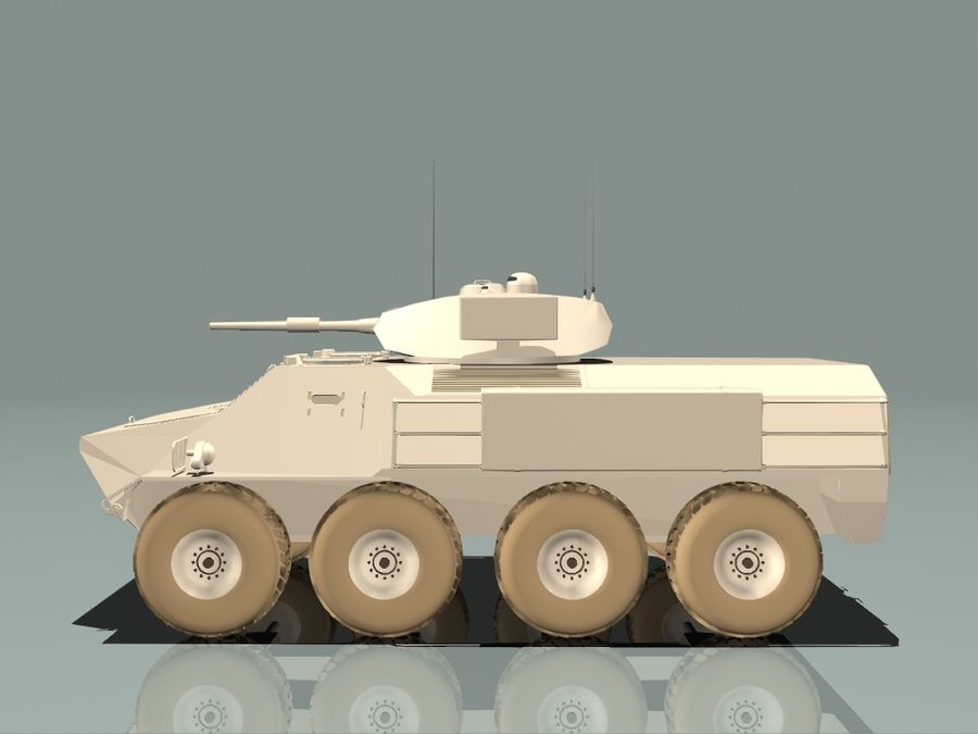 Armored Personnel Carrier royalty-free 3d model - Preview no. 5
