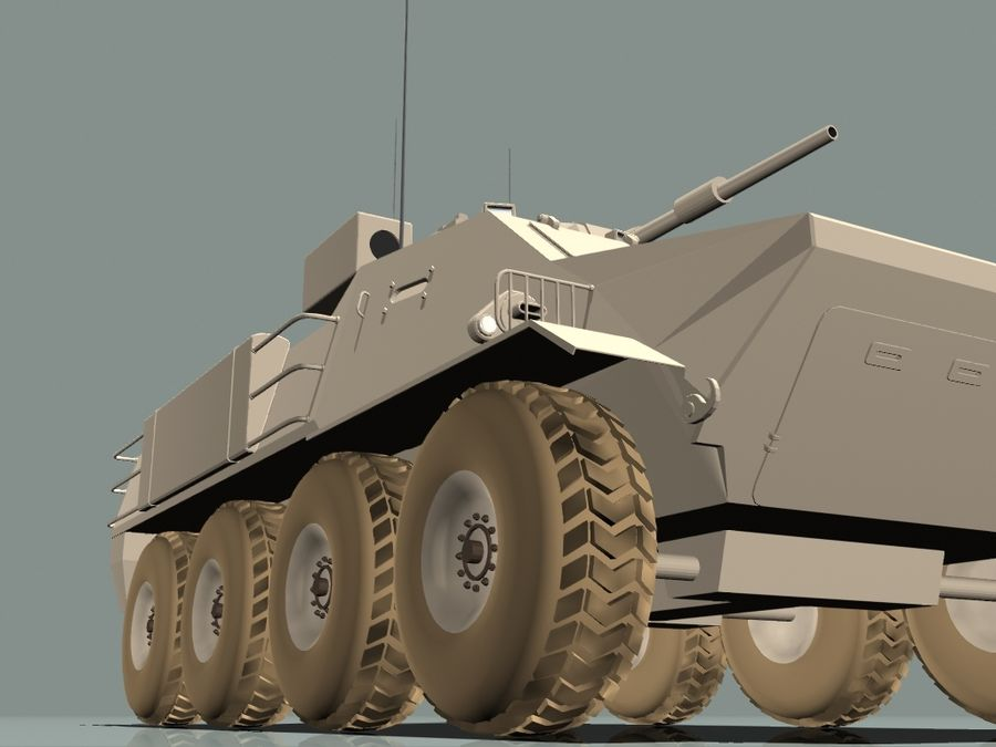 Armored Personnel Carrier royalty-free 3d model - Preview no. 12