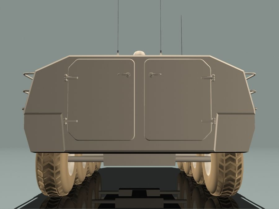 Armored Personnel Carrier royalty-free 3d model - Preview no. 8