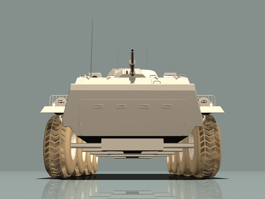 Armored Personnel Carrier royalty-free 3d model - Preview no. 13