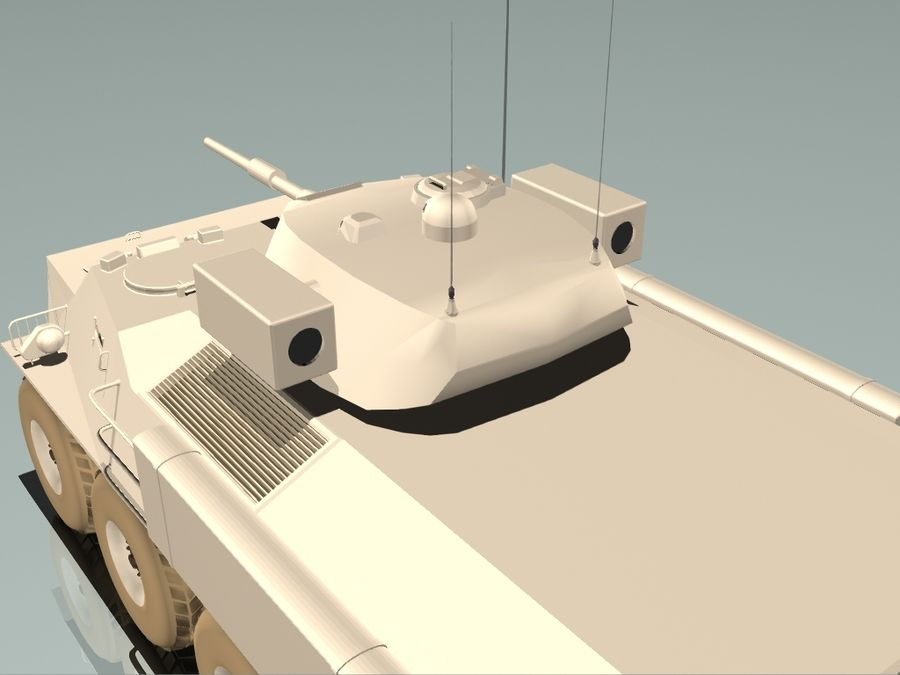 Armored Personnel Carrier royalty-free 3d model - Preview no. 4