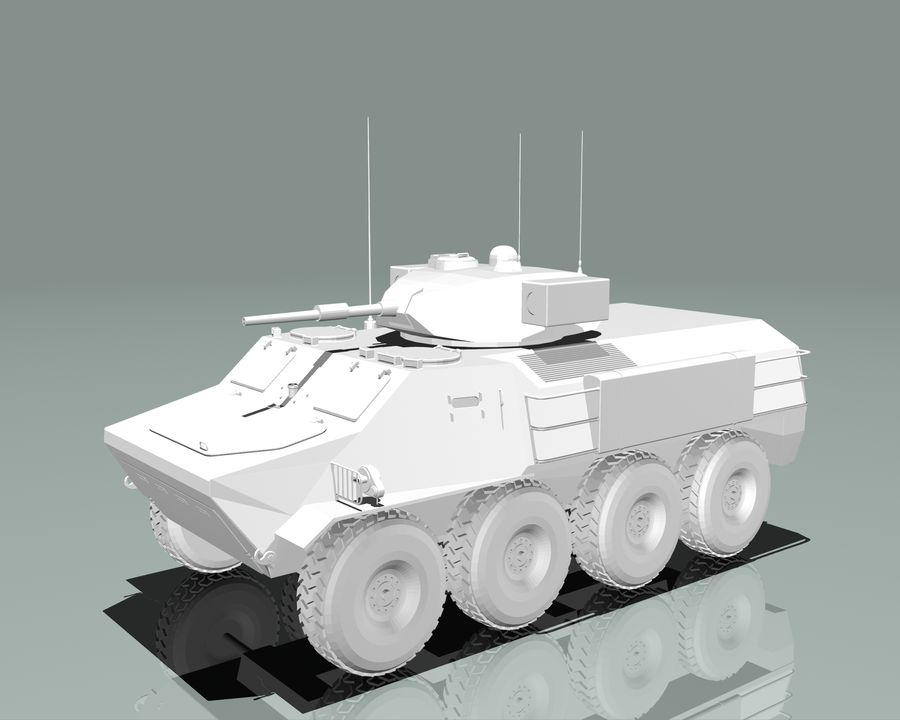 Armored Personnel Carrier royalty-free 3d model - Preview no. 17