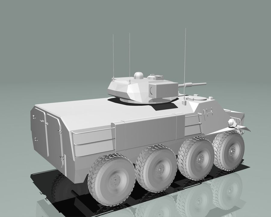 Armored Personnel Carrier royalty-free 3d model - Preview no. 18