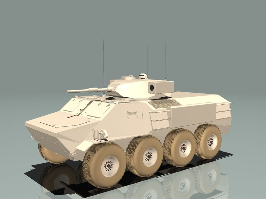 Armored Personnel Carrier royalty-free 3d model - Preview no. 2