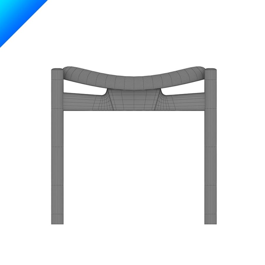 Hans Wegner CH54 Stool royalty-free 3d model - Preview no. 8