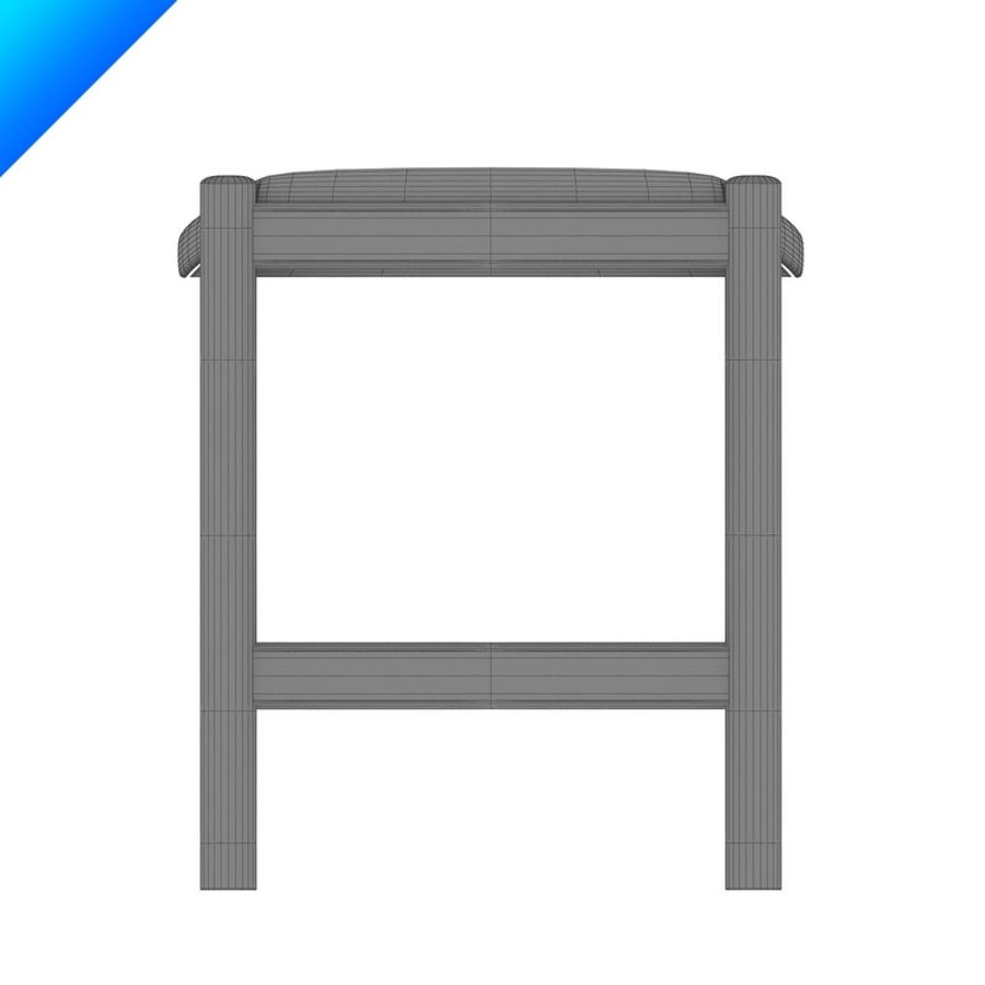 Hans Wegner CH54 Stool royalty-free 3d model - Preview no. 10