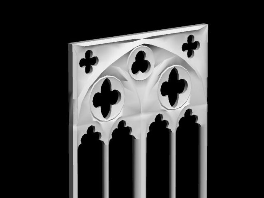 Gothic Stone Arch royalty-free 3d model - Preview no. 2