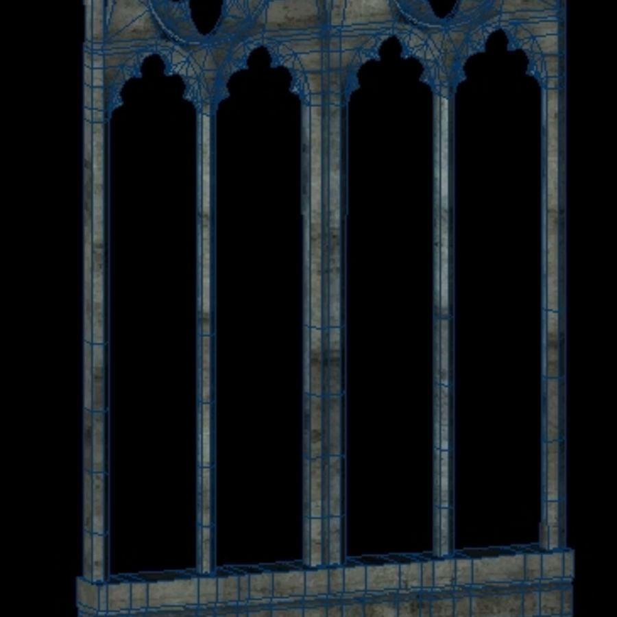 Gothic Stone Arch royalty-free 3d model - Preview no. 7