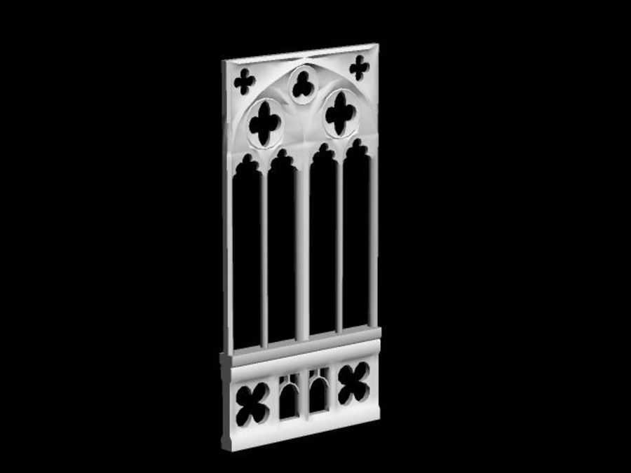 Gothic Stone Arch royalty-free 3d model - Preview no. 4