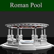 Piscina romana modelo 3d