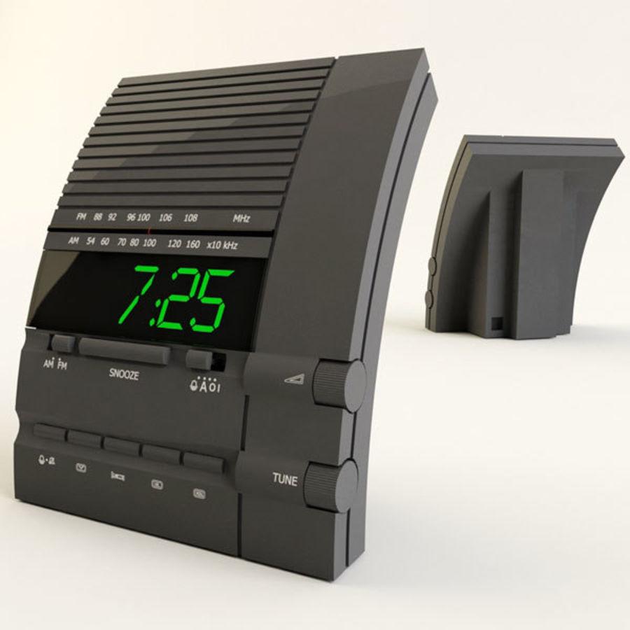 Clock Radio Alarm royalty-free 3d model - Preview no. 2