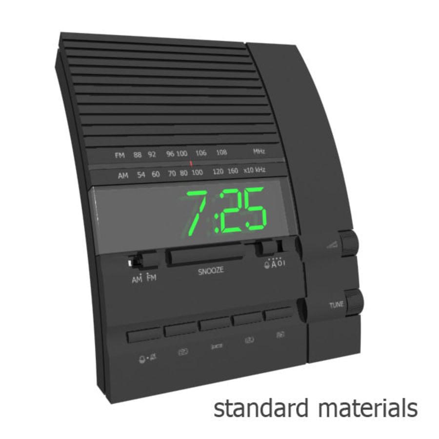 Clock Radio Alarm royalty-free 3d model - Preview no. 5