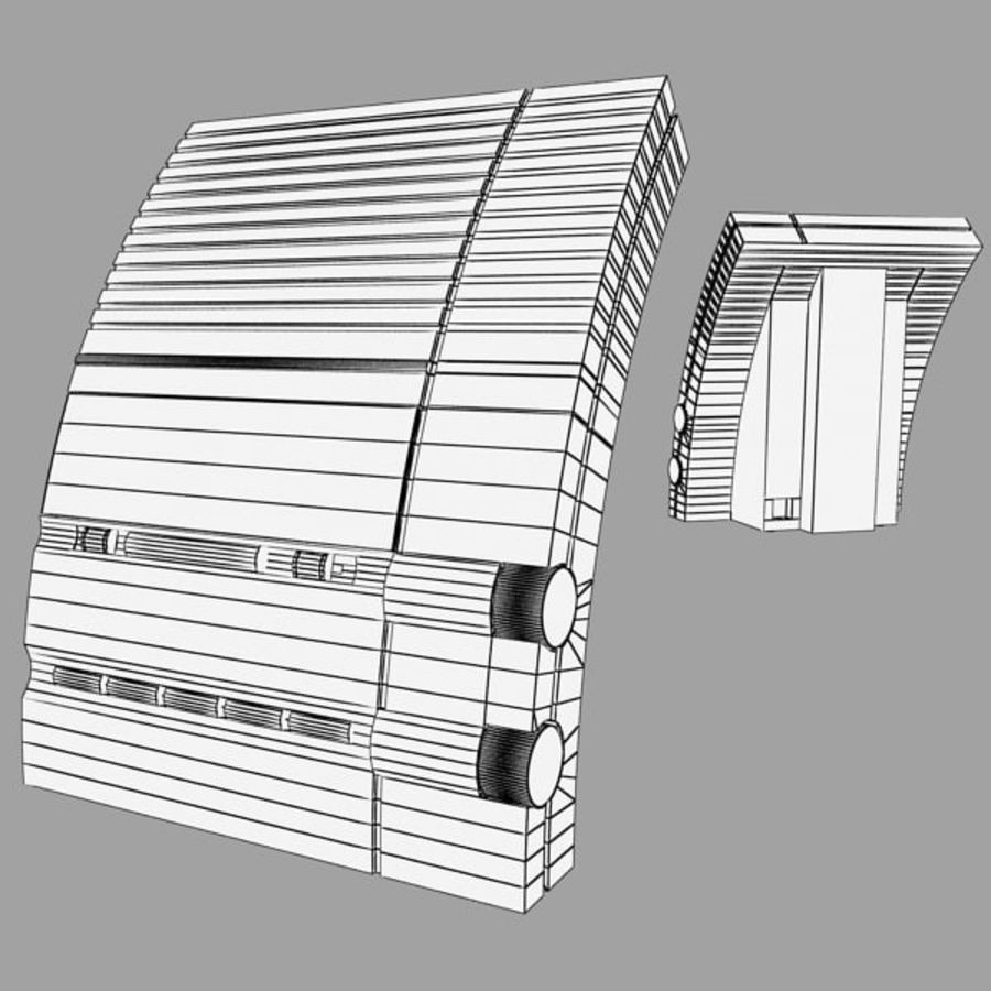 Clock Radio Alarm royalty-free 3d model - Preview no. 6
