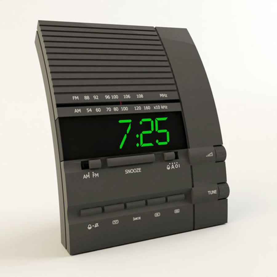 Clock Radio Alarm royalty-free 3d model - Preview no. 1