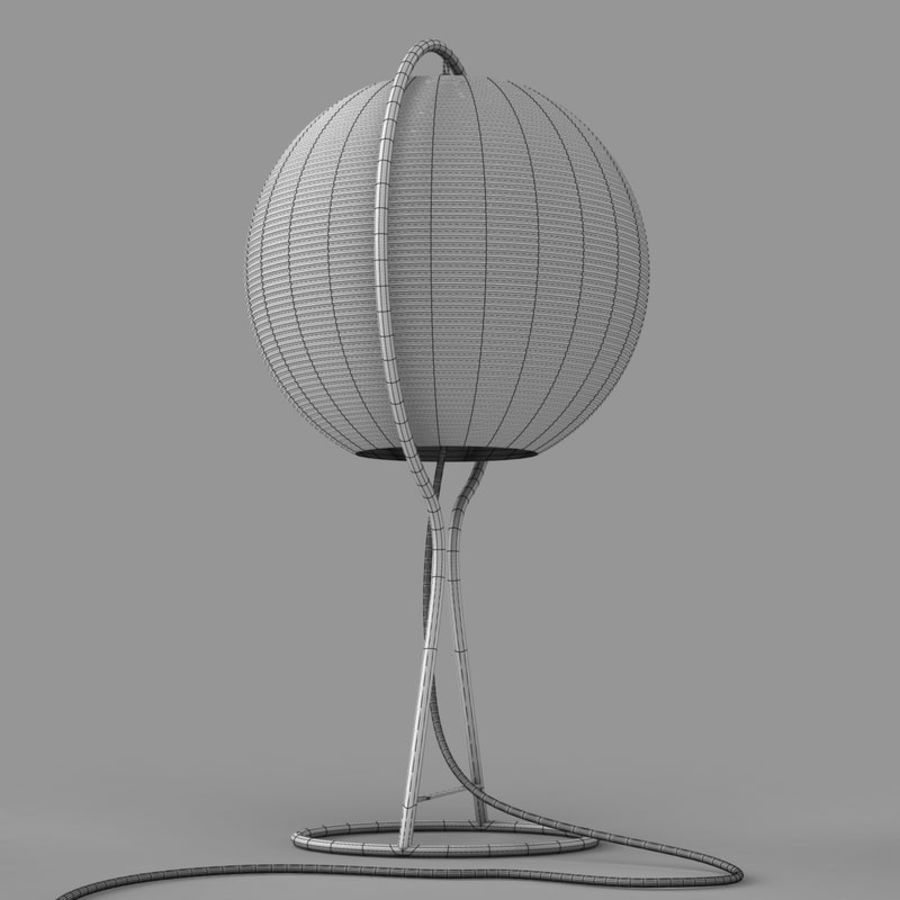 Vate Table Lamp by IKEA royalty-free 3d model - Preview no. 6