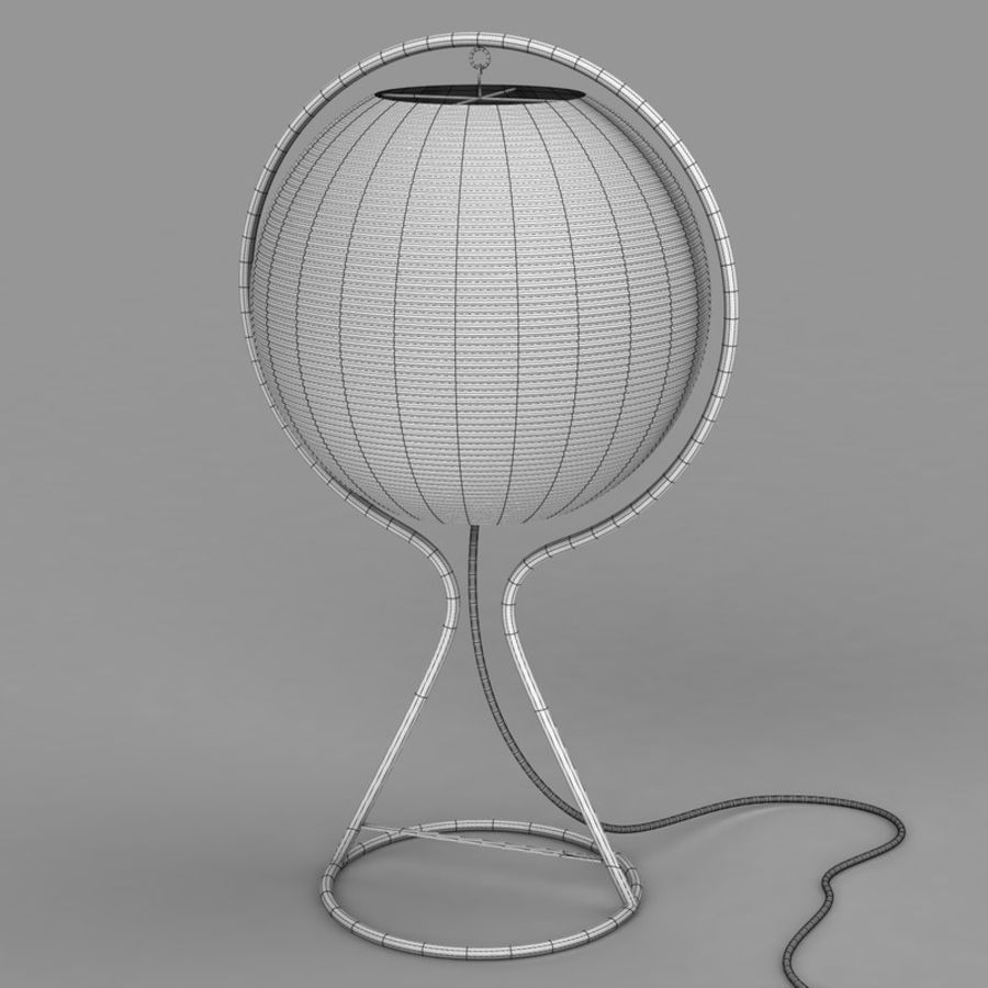 Vate Table Lamp by IKEA royalty-free 3d model - Preview no. 2