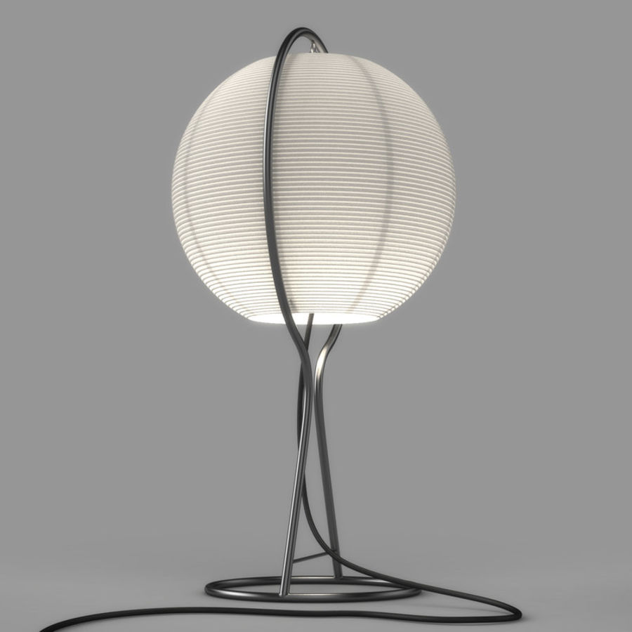 Vate Table Lamp by IKEA royalty-free 3d model - Preview no. 5