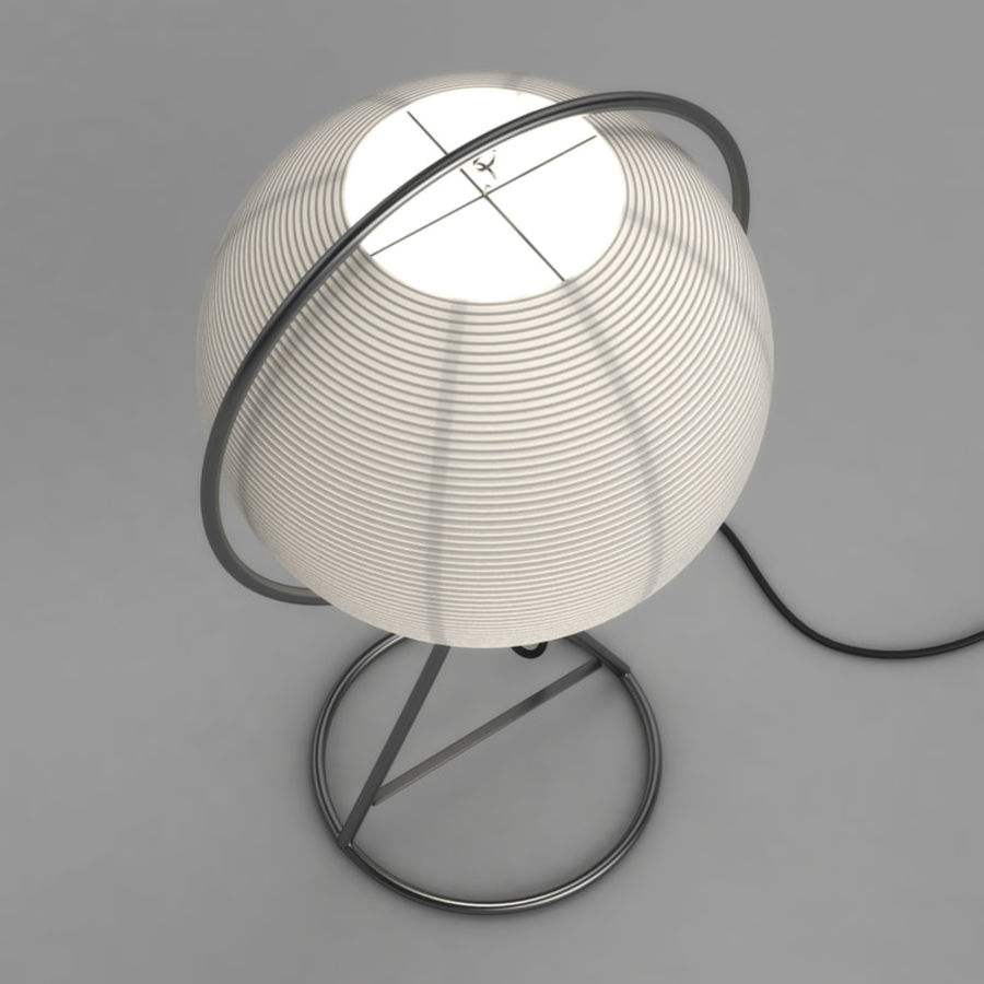 Vate Table Lamp by IKEA royalty-free 3d model - Preview no. 3