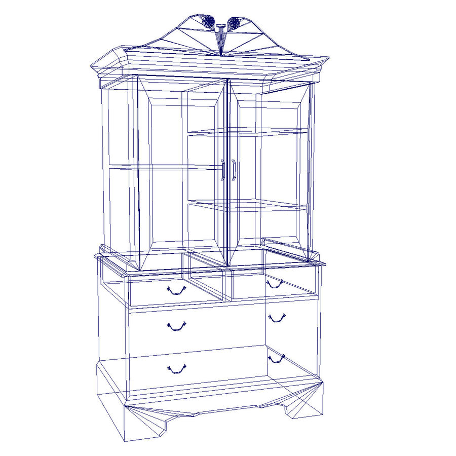 Cabinet royalty-free 3d model - Preview no. 2