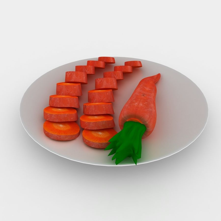 Carrot royalty-free 3d model - Preview no. 6