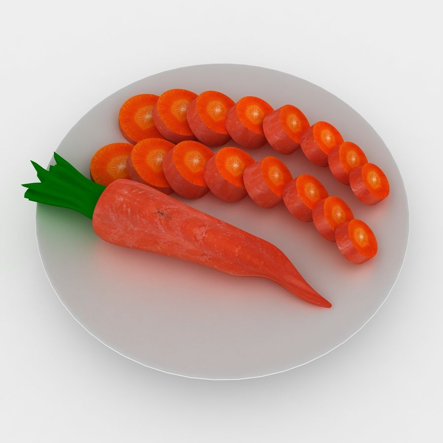 Carrot royalty-free 3d model - Preview no. 4