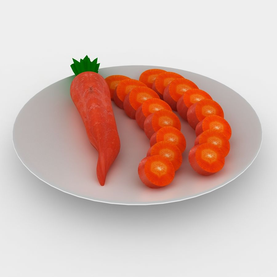 Carrot royalty-free 3d model - Preview no. 5
