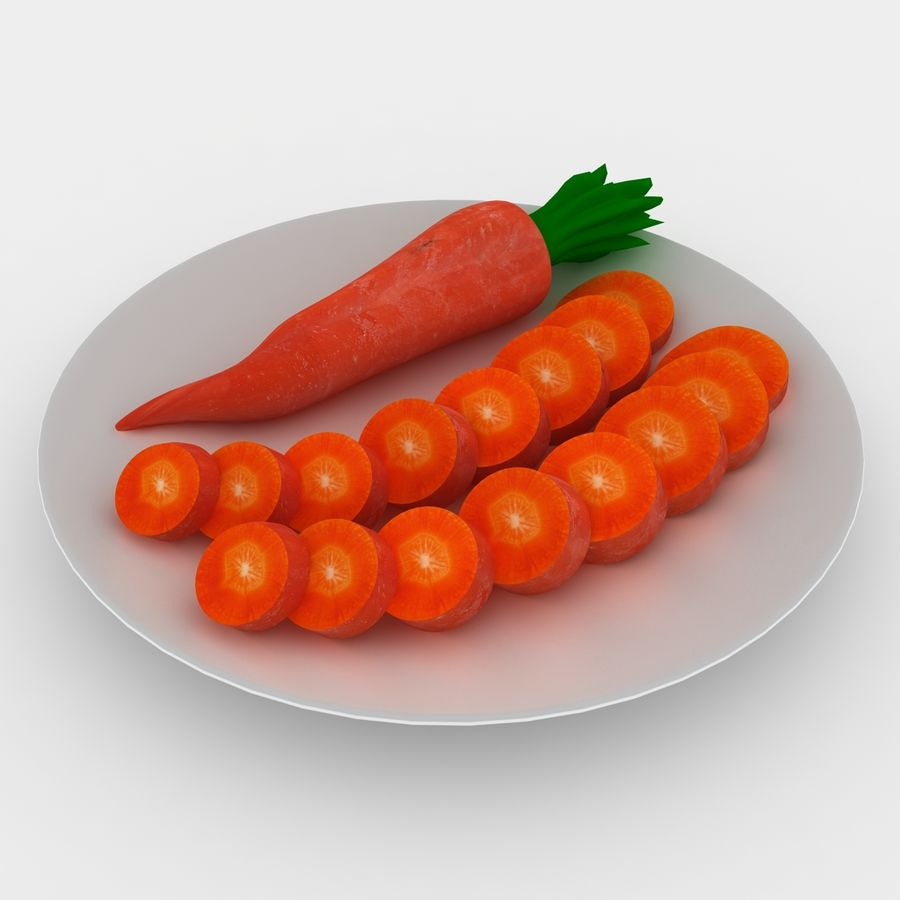 Carrot royalty-free 3d model - Preview no. 1