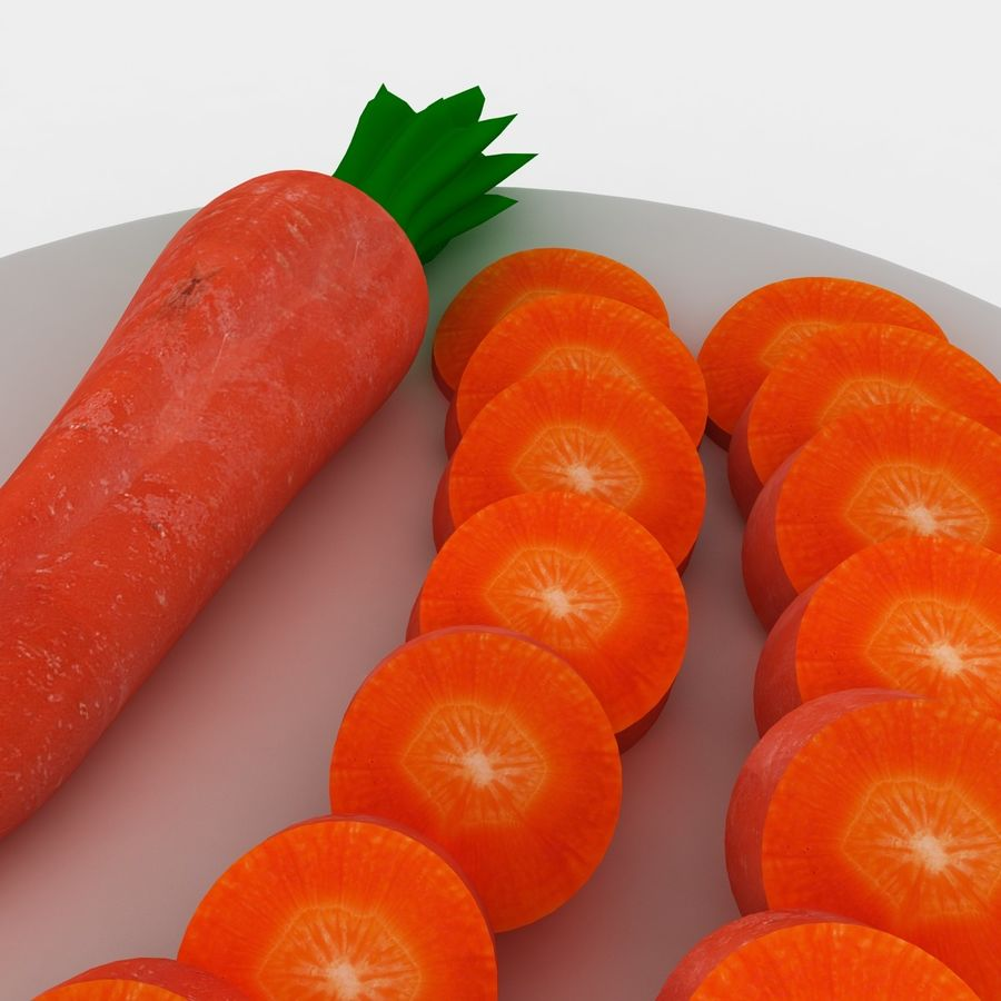 Carrot royalty-free 3d model - Preview no. 8