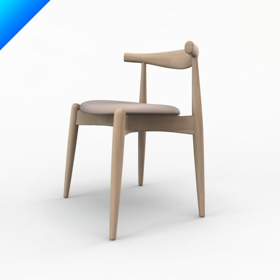 Hans Wegner Ch20 Elbow Chair Royalty Free 3d Model   Preview No. 4