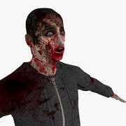 Low Poly Zombie 3d model