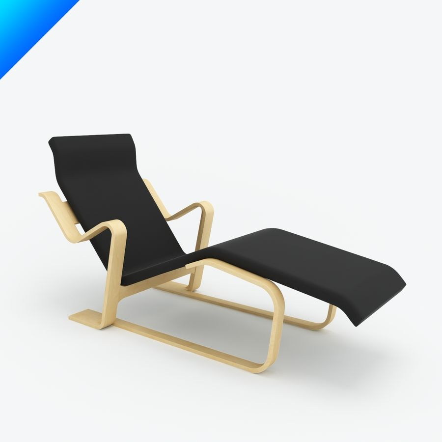 Marcel Breuer Chaise Lounge Royalty Free 3d Model