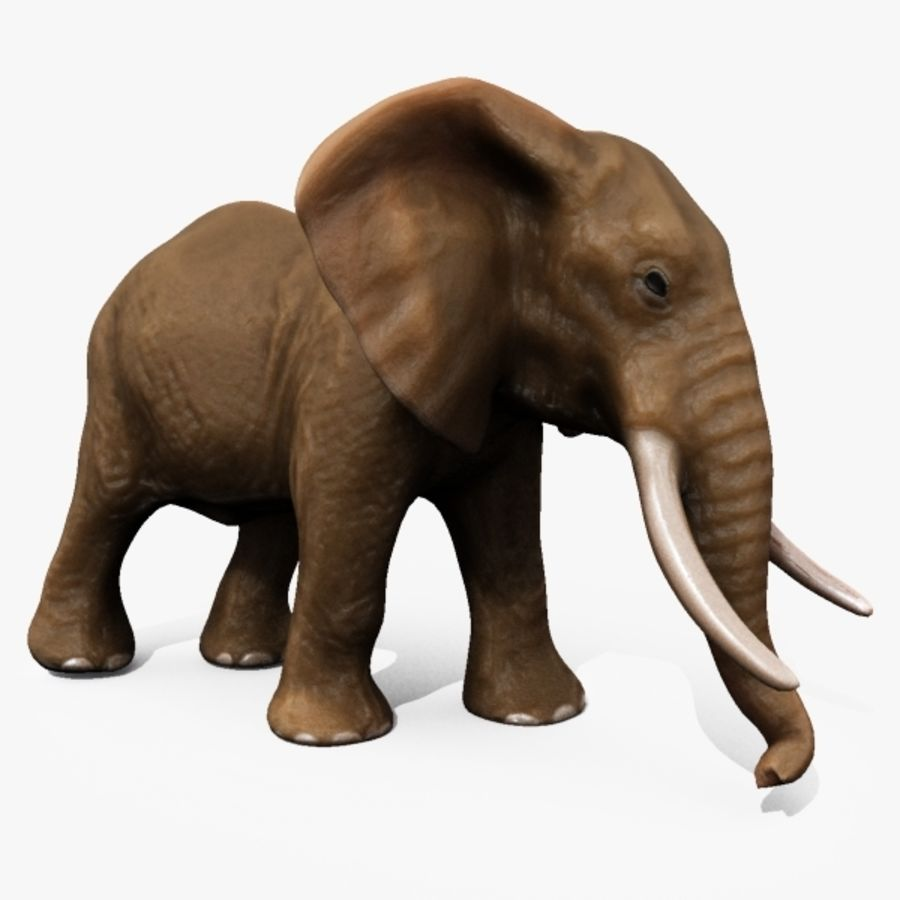 Elephant royalty-free 3d model - Preview no. 2