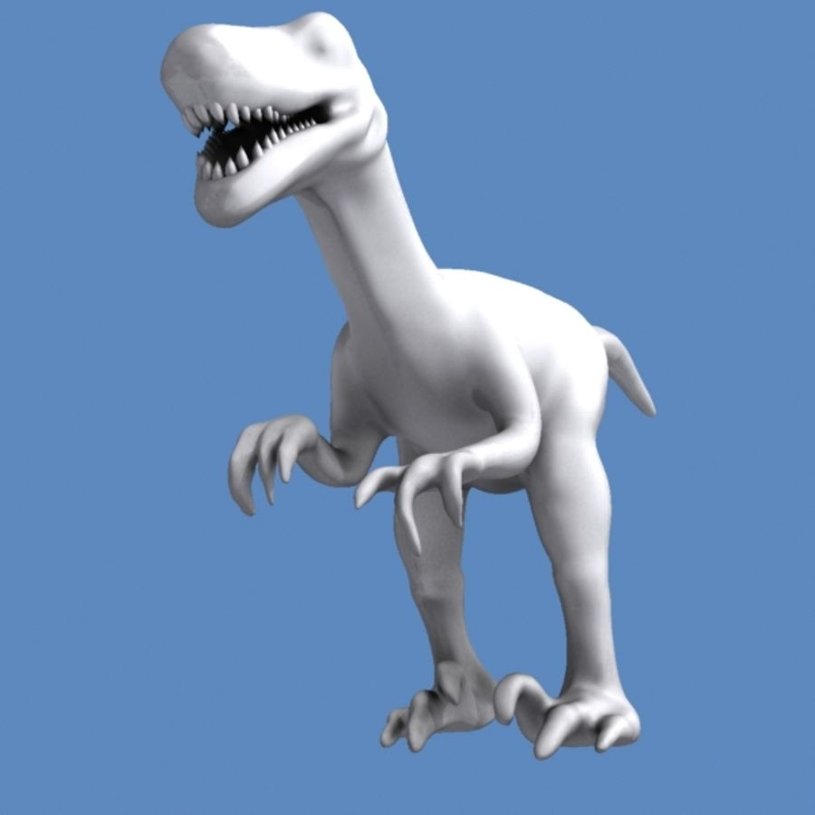 Velociraptor royalty-free 3d model - Preview no. 5