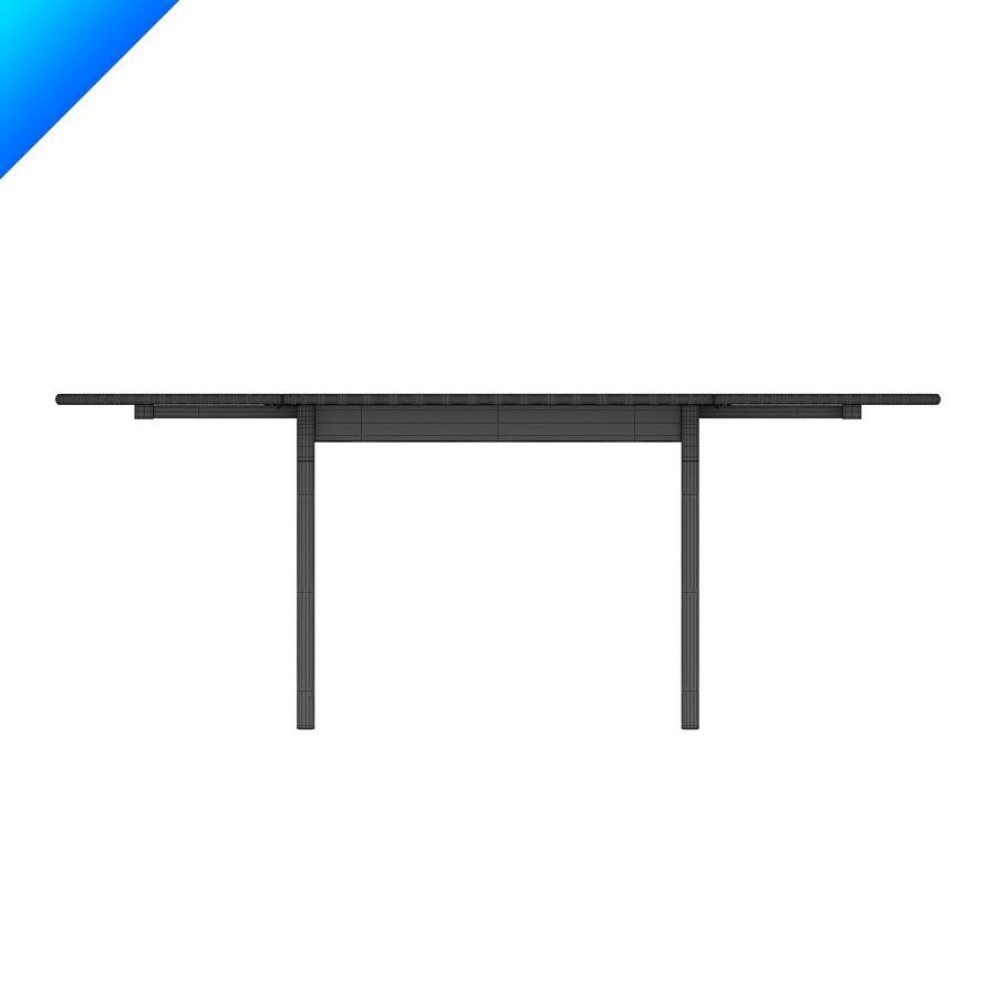 Hans Wegner Ch002 Table royalty-free 3d model - Preview no. 5