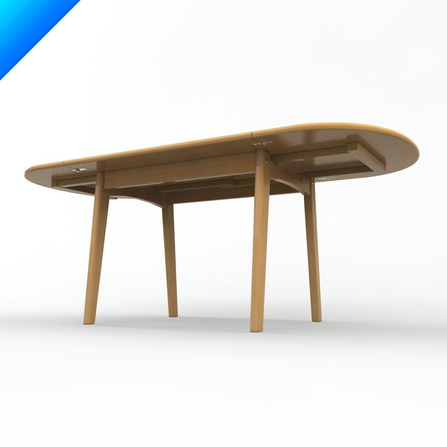 Hans Wegner Ch002 Table royalty-free 3d model - Preview no. 3