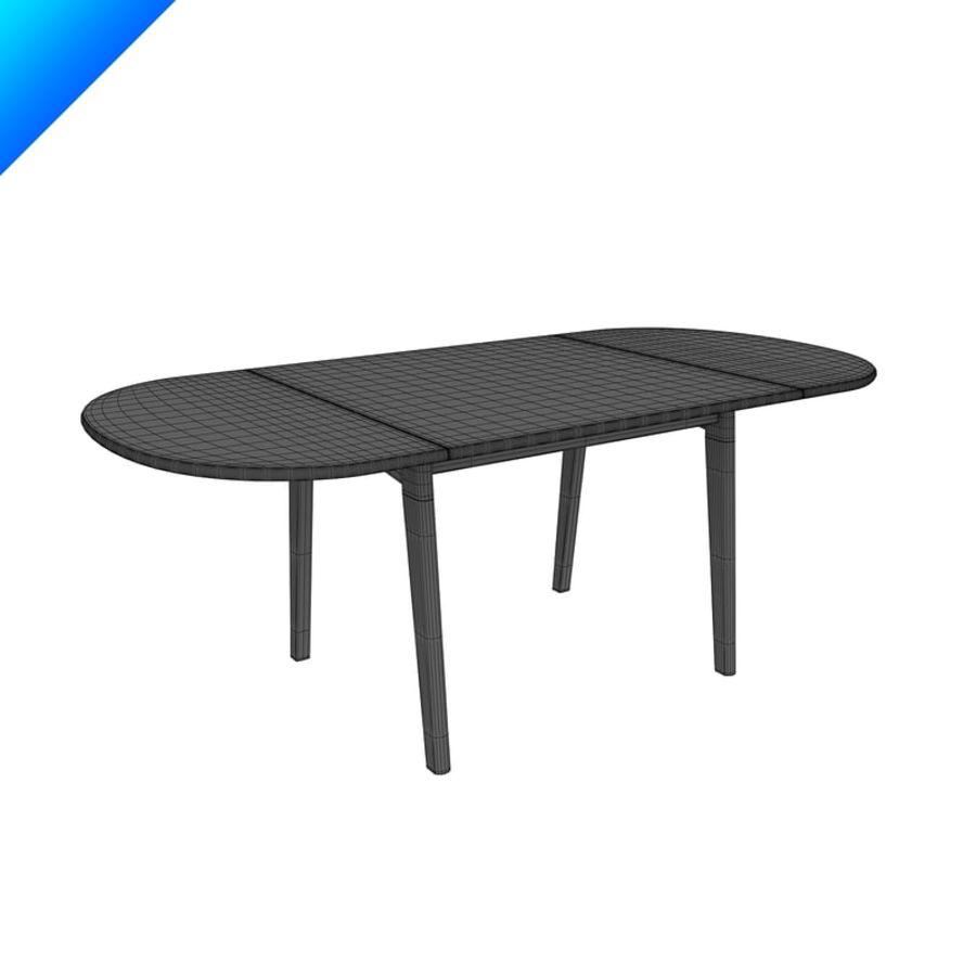 Hans Wegner Ch002 Table royalty-free 3d model - Preview no. 8