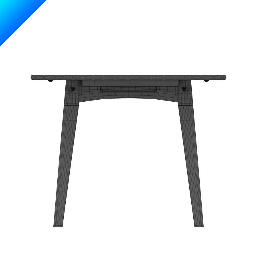 Hans Wegner Ch002 Table royalty-free 3d model - Preview no. 7