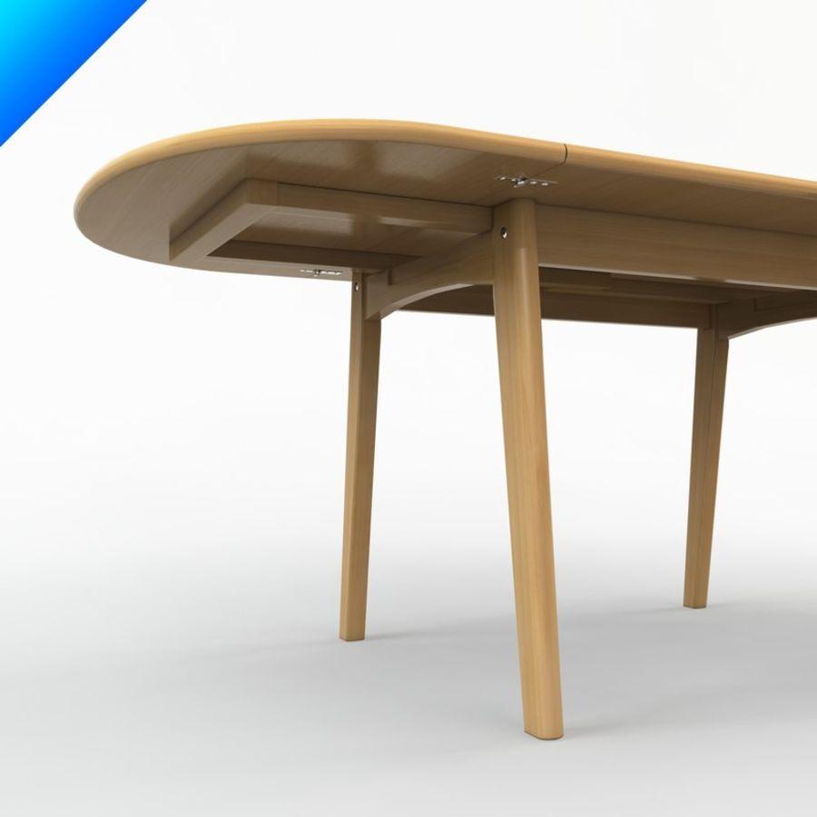 Hans Wegner Ch002 Table royalty-free 3d model - Preview no. 4