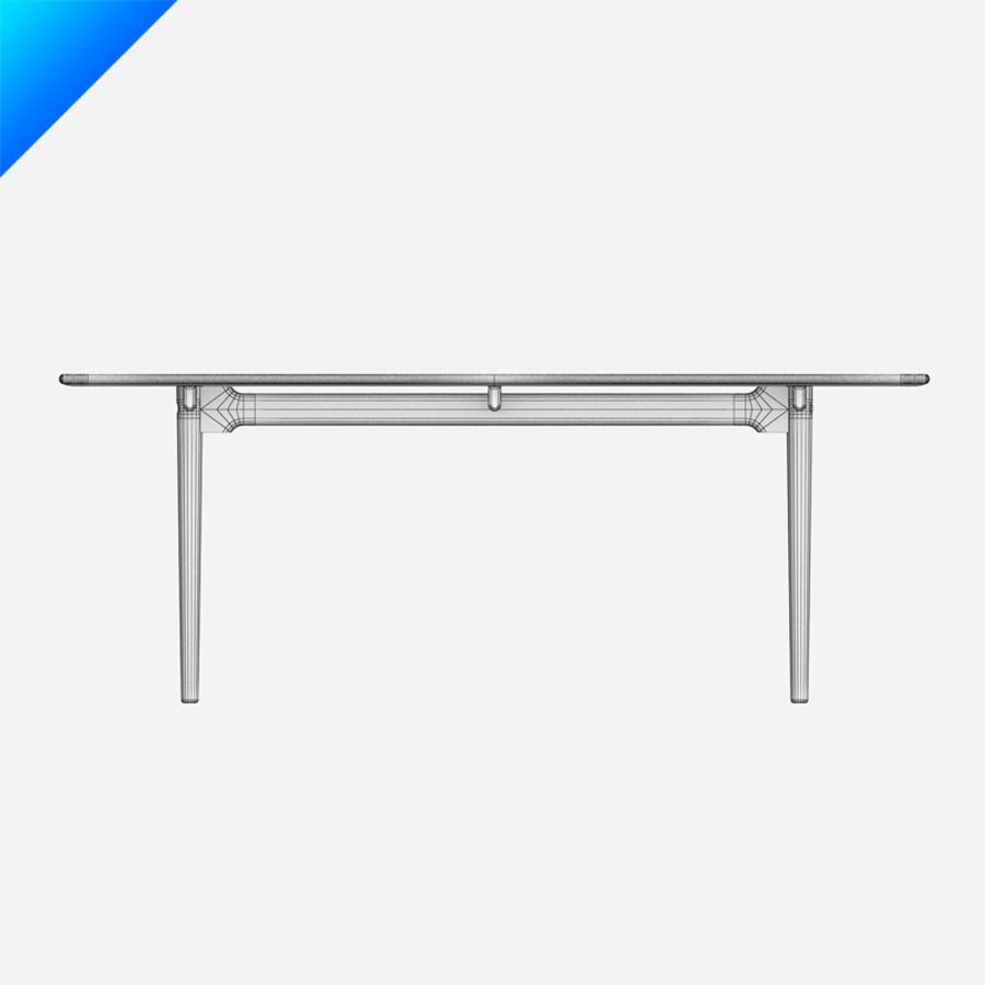 Hans Wegner CH327 Table royalty-free 3d model - Preview no. 10