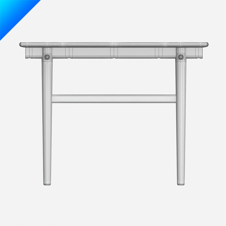 Hans Wegner CH327 Table royalty-free 3d model - Preview no. 12