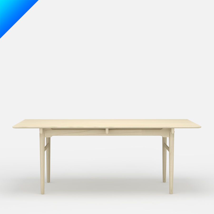 Hans Wegner CH327 Table royalty-free 3d model - Preview no. 2