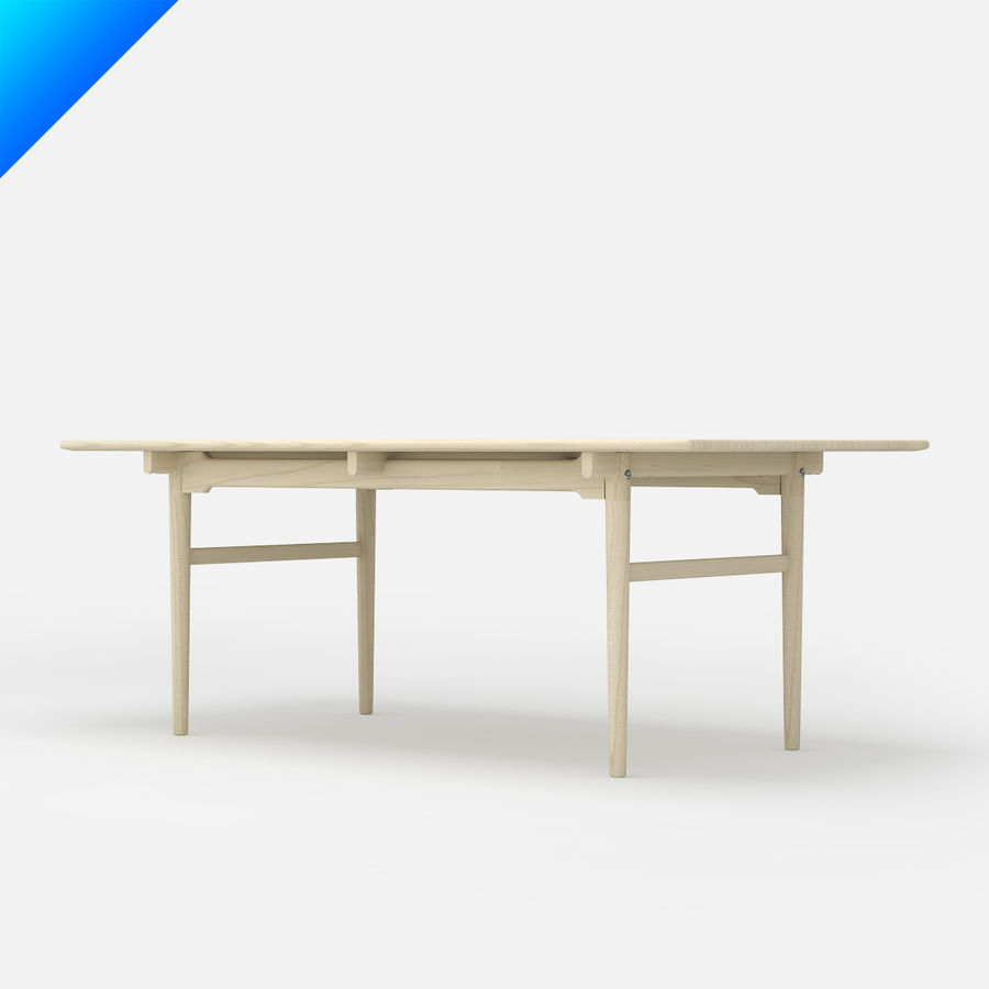 Hans Wegner CH327 Table royalty-free 3d model - Preview no. 3