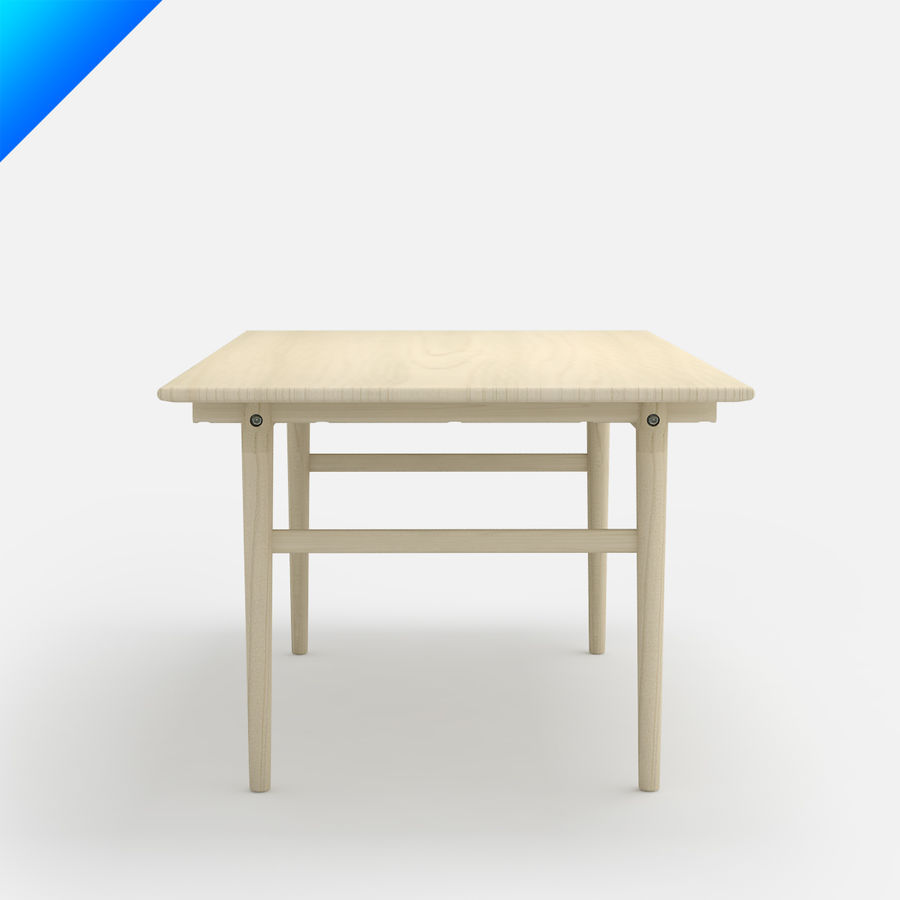 Hans Wegner CH327 Table royalty-free 3d model - Preview no. 5