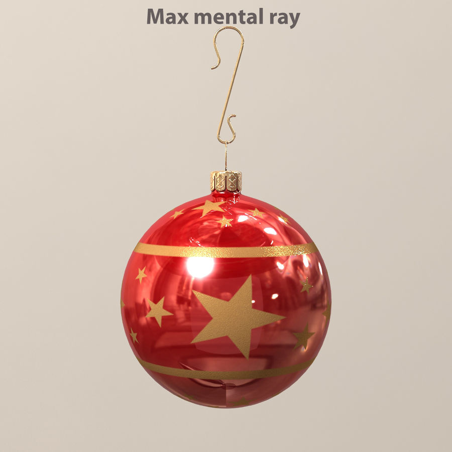 Christmas Ball royalty-free 3d model - Preview no. 4