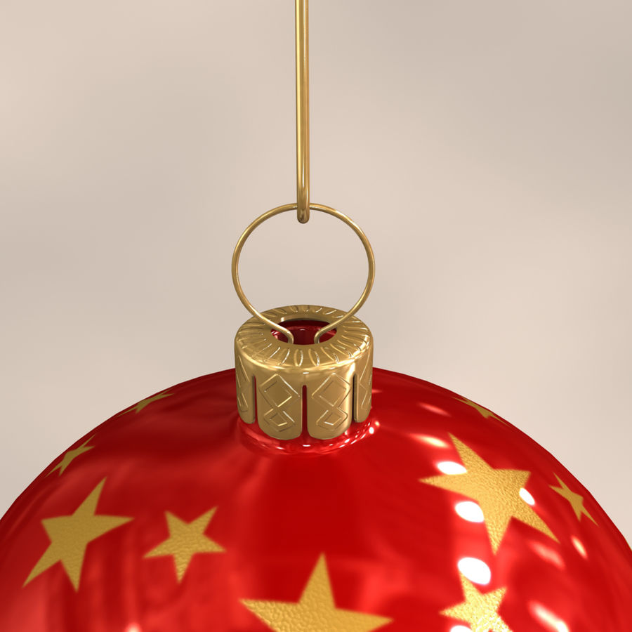 Christmas Ball royalty-free 3d model - Preview no. 5