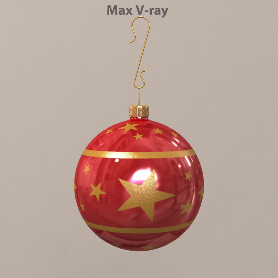Christmas Ball royalty-free 3d model - Preview no. 3