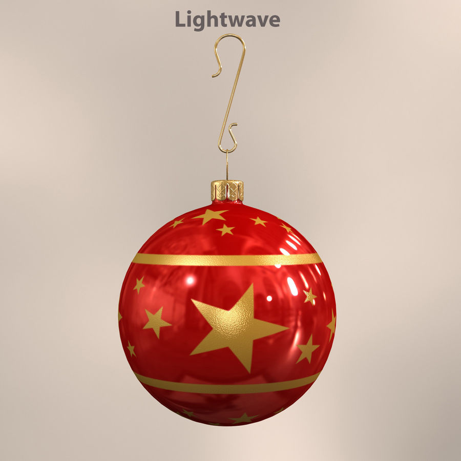 Christmas Ball royalty-free 3d model - Preview no. 2