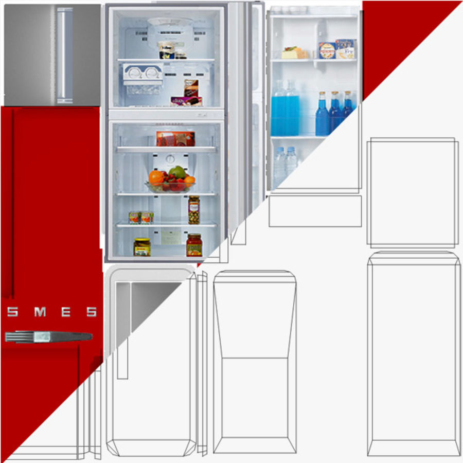 Refrigerator royalty-free 3d model - Preview no. 8