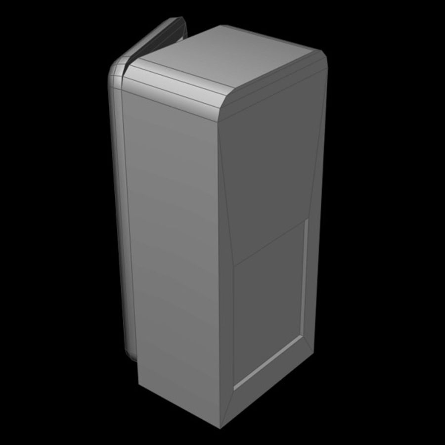 Refrigerator royalty-free 3d model - Preview no. 7